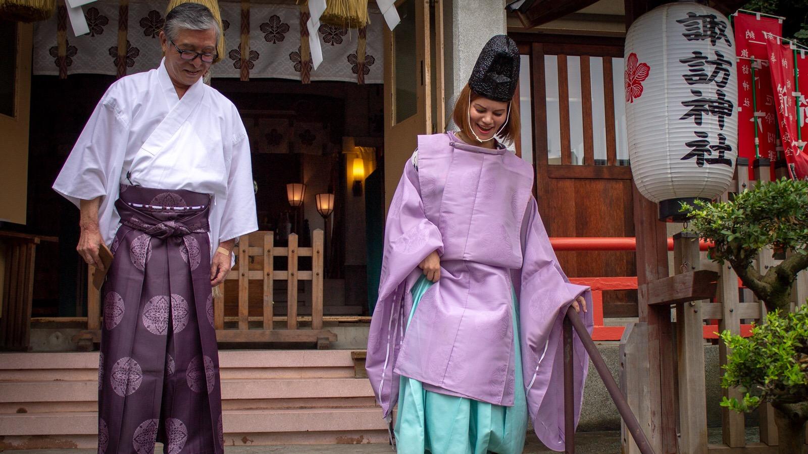 諏訪神社神主体験