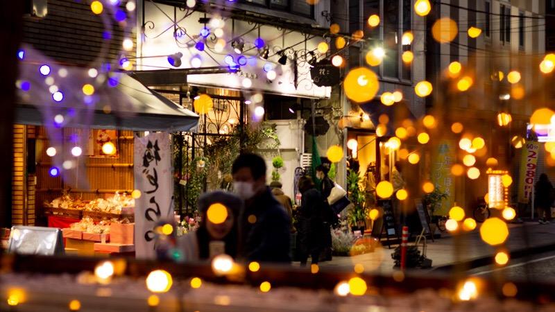 石川町の商店街
